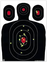 """50 Pack - 12""""x 18"""" Silhouette Splatter Target"""