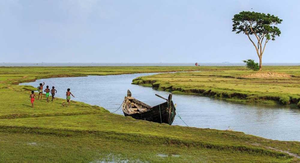 Nijhum Dwip Canal area